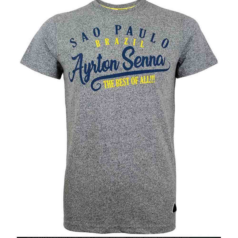 Ayrton Senna Vintage Sao Paulo Grey T-Shirt - Large