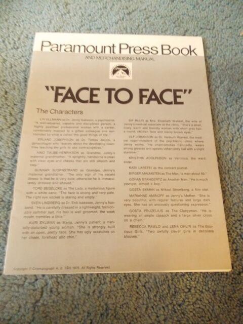 FACE TO FACE(1975)LIV ULLMANN ORIGINAL PRESSBOOK