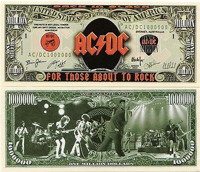 Classic Rock Band Million Dollar Bill AC//DC
