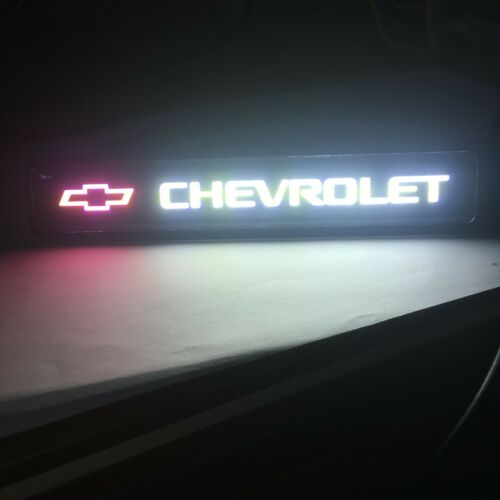 Chevrolet Logo LED Light Car Front Grille Badge Illuminated Decal Sticker