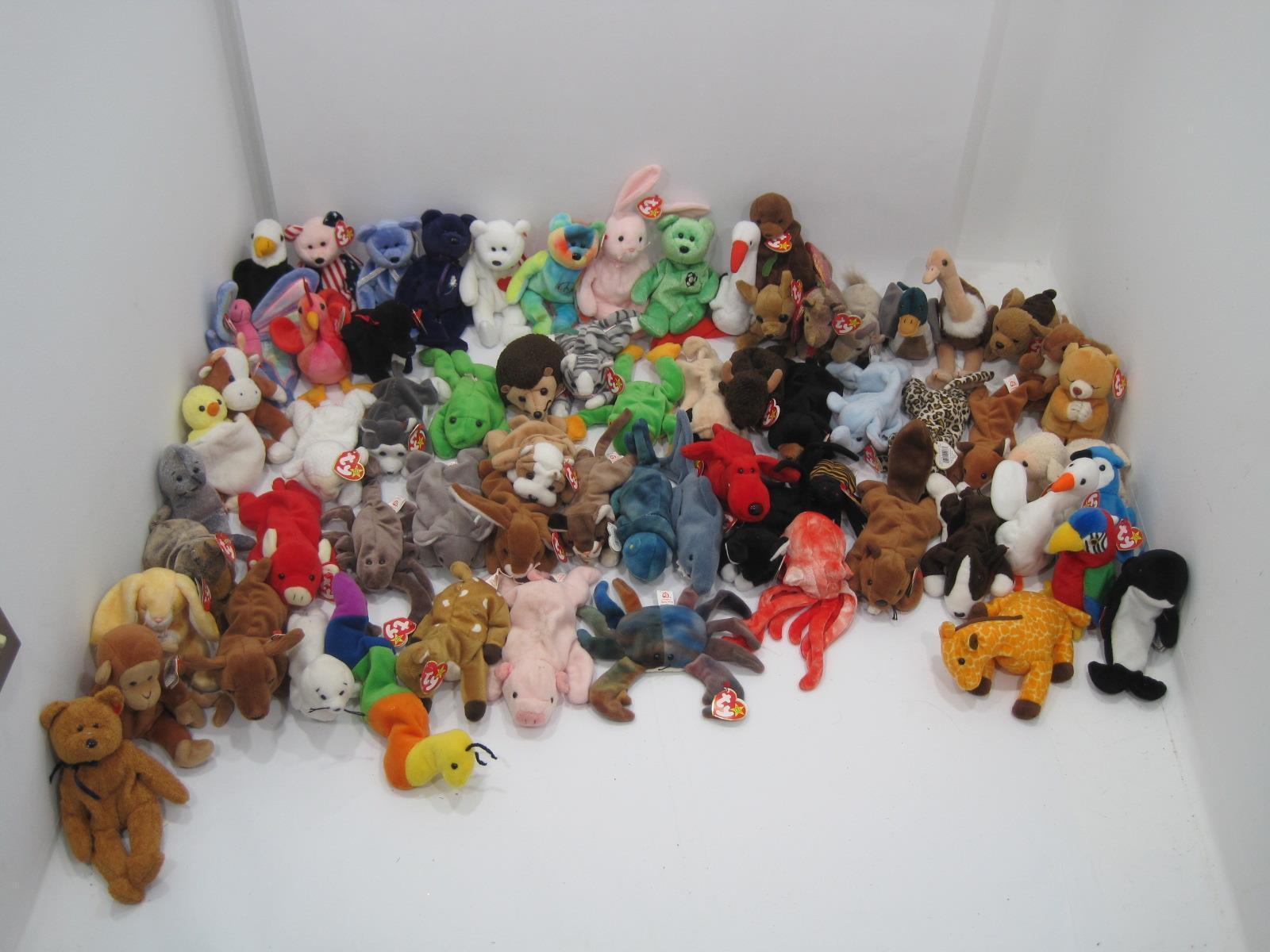 Mezcladas Lote de 66 Original Ty Ty Ty Beanie Babies Puf Juguetes (Caja)  artículos de promoción