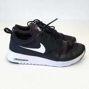 Womens-Nike-Air-Max-Thea-Running-Shoes-Sneakers-Black-White-599409-020-Sz-US7