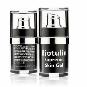 2 X BIOTULIN Supreme Skin Gel Facial Lotion Reduces Wrinkles Anti