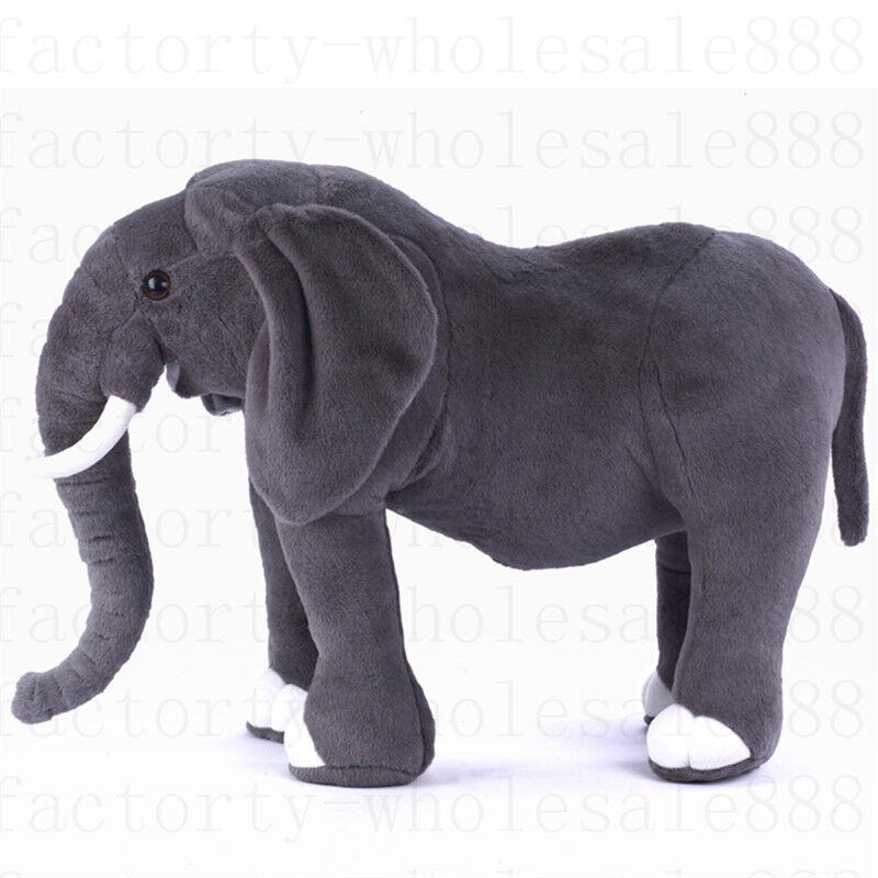 Giant Plush Simulation Elephant Toy 70cm Kids Soft Stuffed Animals Doll gift