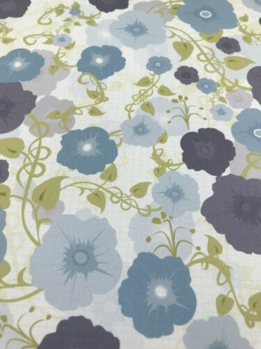 Blue Floral Linen Texture Double Sided 12 x 12 Scrapbook Paper Craft Greeting Ca