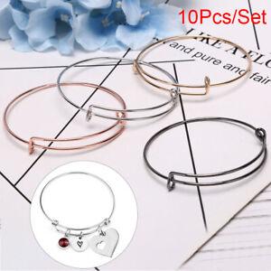 10-Teile-satz-Mode-Einstellbare-Metall-Armband-Armreif-DIY-Schmuck-Machen-KWQ