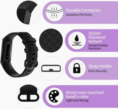 Bands Compatible with Fitbit Charge 4 Fitbit Charge 3 Fitbit Charge 3 SE