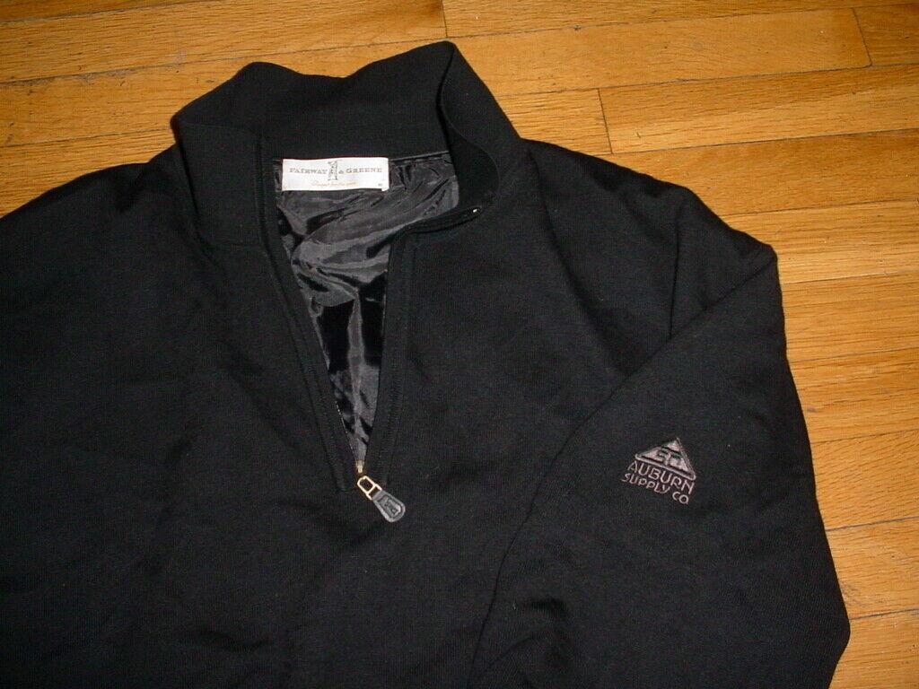 Fairway verdee Merino Suéter cuarto Zip Wind Negro Auburn  suministro LOGO XL PGA  buen precio