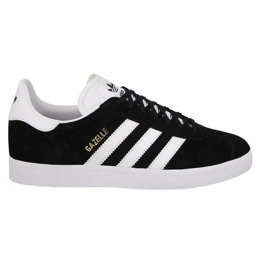 Adidas Gazelle Black White Mens Trainers