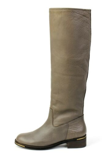 Gentle Souls Popular Choice CONCRETE Tall Boot Knee High Natural Leather NEW