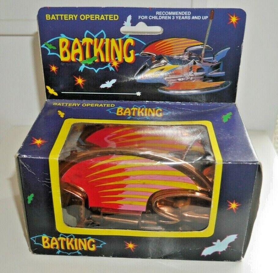 VINTAGE Batman batking TOY ANNI 1980 mm Toys MM888N RARO Nuovo di zecca con scatola MOLTO RARA D835