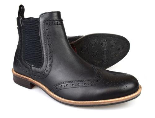 Rrp Silver 70 Uk Street P Free Brogue p Mens Byron Boots in nera pelle Chelsea rFTrqz