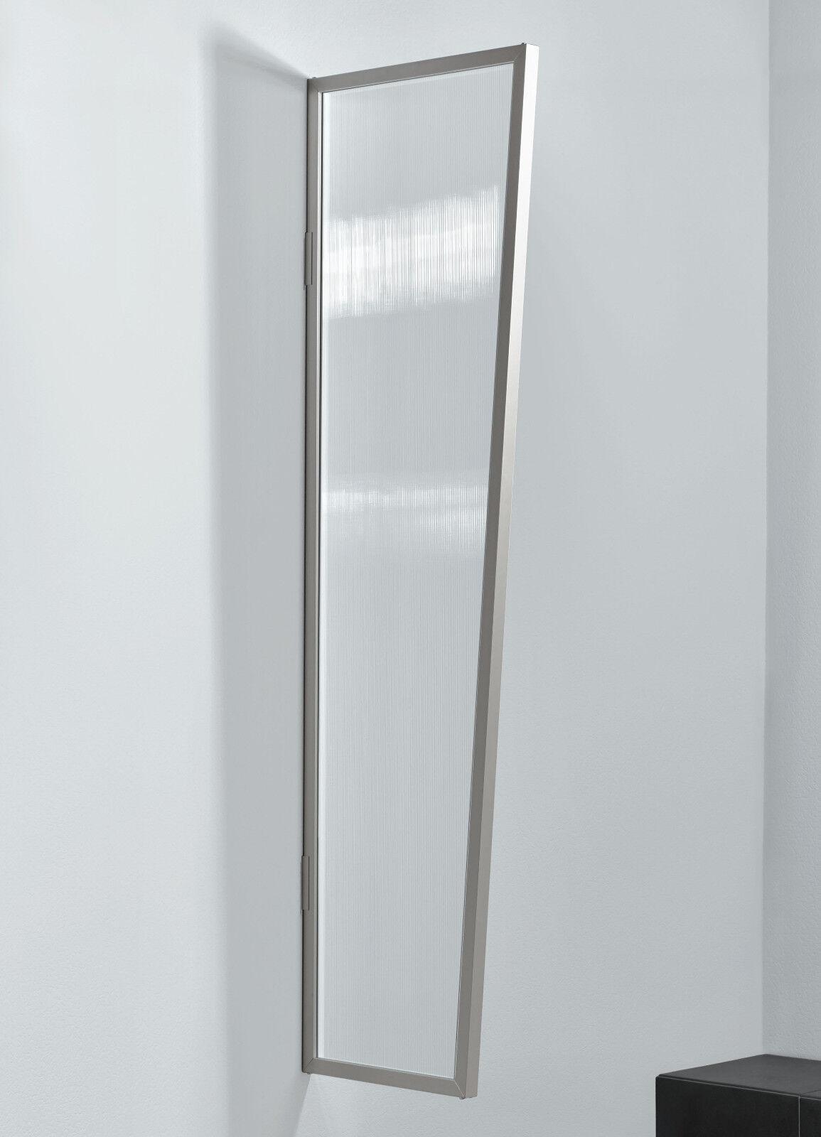 Gutta Seitenblende B1 B1 B1 Stegplatte klar 200x60x45 cm edelstahl optik 549e53