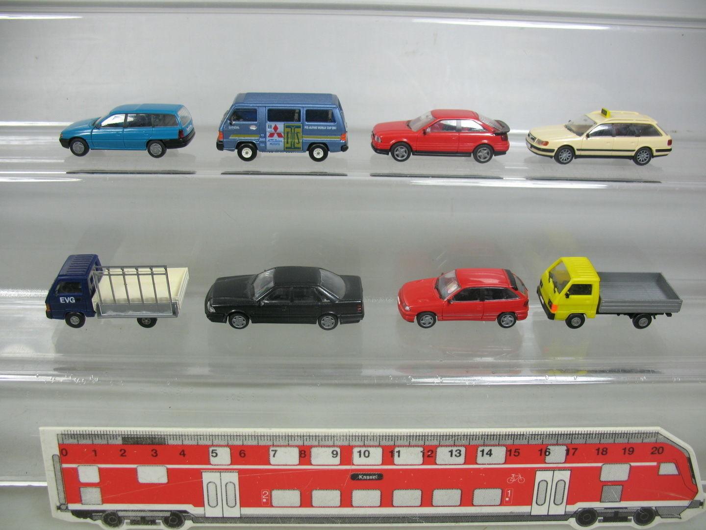 Aj382-0,5 x Rietze H0 Car Model  MITSUBISHI   MMC L 300+ Audi + Vauxhall Astra