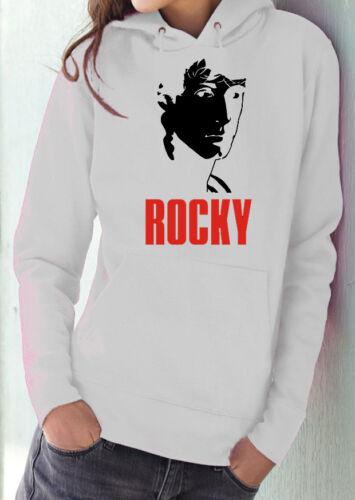 Fm10 Hooded Sweatshirt Woman Rocky Balboa Stallone Boxing Boxing Cinema/&tv