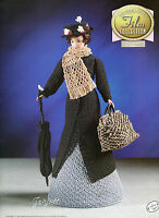 Mary Poppins, Annie's Golden Age Of Film Collection Crochet Patterns Fit Barbie