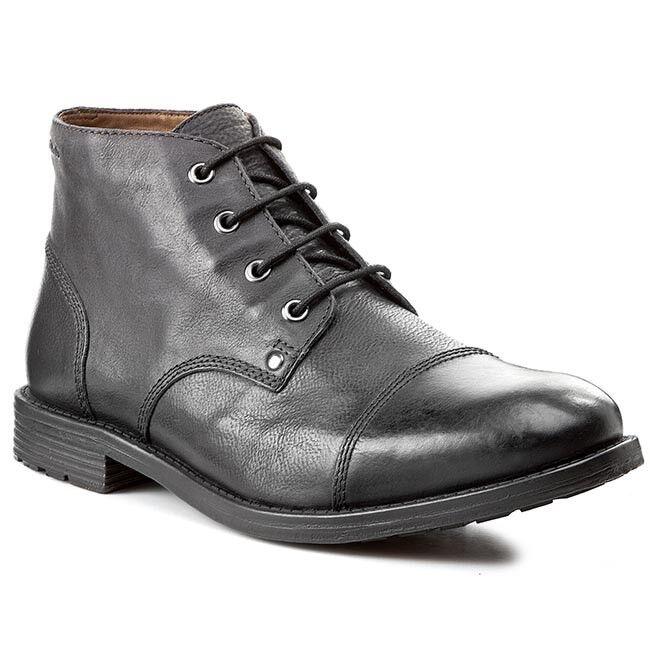Clarks hommes  x faulkner mi  noir lea bottes, semelle & plus  uk 8,9,10