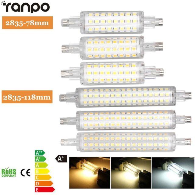 R7S 78mm 118mm Projecteur LED Maïs Ampoule 2835 SMD 12W 16W remplacer