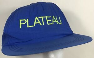 Plateau Hat Retro Blue Neon Lime Green Snapback Party Festival Beach ... 9d12ccd0ebd