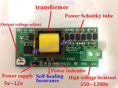 High Voltage DC-DC Boost Converter 5V-12V Step up to 300V-1200V Power Module