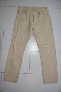 Levis-Jeans-501-beige-W36-L34-gerade-Zustand-gut-21117-277