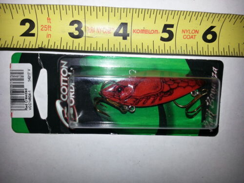Cordell Spot 1//4 oz Rattle Trap Fishing Lure 2 1//2 inches long NEW Red Crawdad