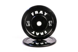 Fray Fitness Olympic Rubber Bumper Weight Plates Plate 10//15//25//35//45 lbs