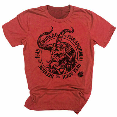 Distressed T Shirt Bureau For Paranormal Research And Defense Hellboy