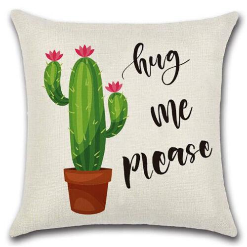 "18/""x18/"" Square Cactus Sofa Pillow Case Fine Waist Throw Cushion Cover Home Decor"