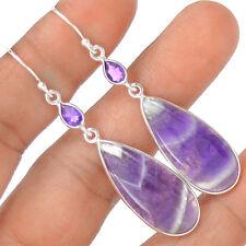Chevron Amethyst - Amethyst Lace 925 Sterling Silver Earring Jewelry EE6322