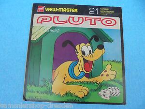 25418 View Master Gaf Pluto 20x20cm Nb 529 3 Scheiben Gut Deutsch
