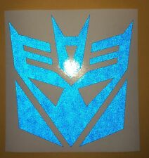"Transformers Decepticon Blue Reflective Decal Vinyl Sticker Helmet Tank etc. 5"""