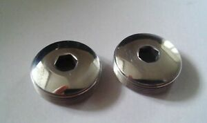 Campagnolo record polished Dust caps For crankset Shimano Dura Ace AX 600 EX