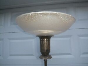 Torchiere Floor Lamp Beautiful Glass Shade 62 Tall Shade 16