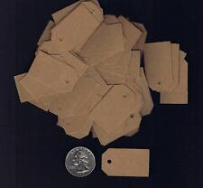 100 Small Blank Kraft Handmade Gift Tags Hang Price Brown Wedding Inventory