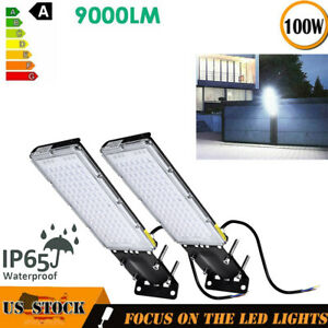 2x-100W-LED-Flood-Lights-Road-Street-Garden-Spot-Lamp-Head-Outdoor-Yard-Light