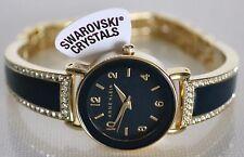Anne Klein Women's Swarovski Crystals Navy Bracelet Watch AK2582NVGB  NIB