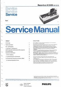 service manual instructions for philips n 2408 ebay rh ebay com Philips LED TV Philips Electronics Parts