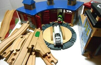 Thomas The Train Imaginarium Brio Wooden Roundhouse Shed ...