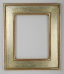 9 X 12 Arts Crafts Picture Frame Hand Applied Silver Leaf