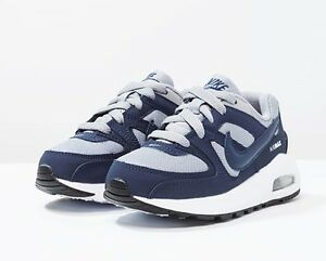 NIKE-AIR-MAX-COMMAND-FLEX-PS-scarpe-bambino-sportive-sneakers-strappo-blu-kids