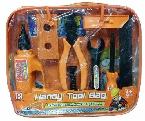 KIT di strumenti Play Set con Custodia Portatile Handy Play Set Strumenti Divertente Bambini Giocattolo per Bambini
