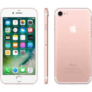 NEW ROSE GOLD VERIZON GSM UNLOCKED 32GB APPLE IPHONE 7 SMART PHONE JT74 B