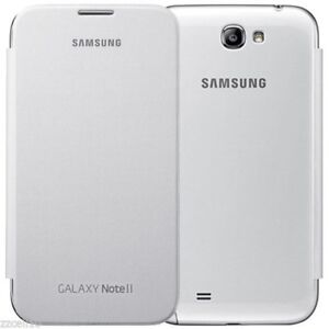 best service e2ee9 63ba0 Details about Authentic Samsung Case Flip Cover EFC-1J9FWEGSTA For Galaxy  Note 2 II White