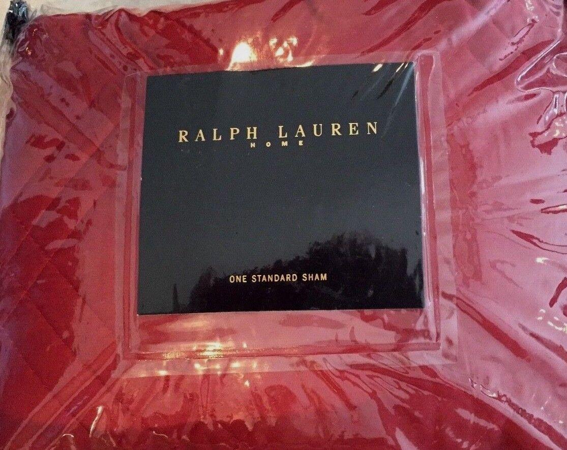 Ralph Lauren Hunting Coat Red Standard Sham Matches Galahad as shown
