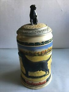 Budweiser Black Lab Lidded Stein First in the Series Hunters Companion Labrador