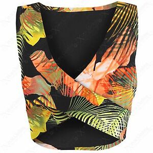 LADIES-CROSSOVER-FRONT-FLORAL-CROP-VEST-TOP-WOMENS-WRAP-OVER-SLEEVELESS-V-NECK