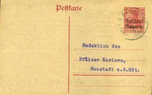 Bahnpost K1 Fr...-.. Bayern Freistaat Dinge FüR Die Menschen Bequem Machen 1919 Auf Ga 10 Pf 413007