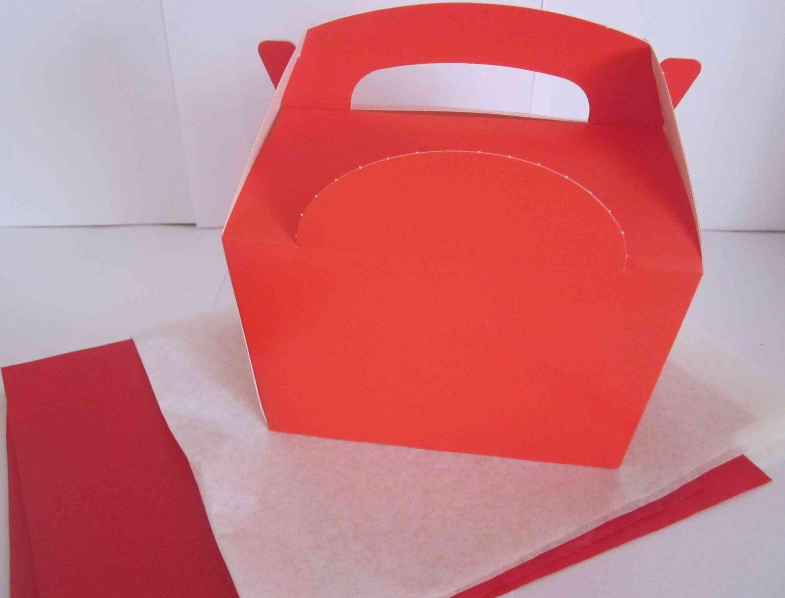 Weihnachten Rot Geschenk Party Geschenkbox Boxen mit 2 Seidenpapier
