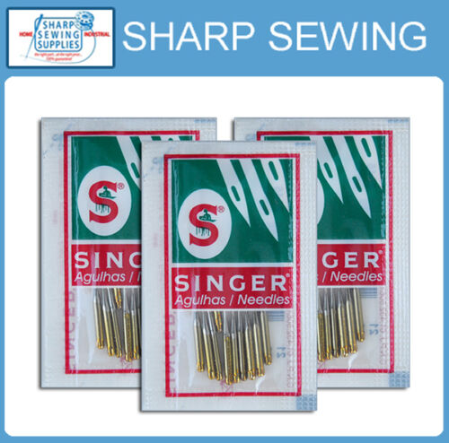 30 EACH SINGER BALL POINT 2045 GOLD TIP HOME SEWING MACHINE NEEDLES   SIZE#9